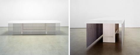 Architect Furniture waterfall table and miya shoji collaboration: victoria meyers